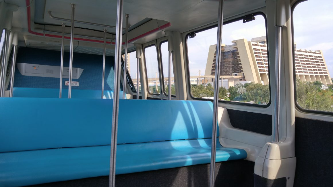 Inside a Walt Disney World Monorail