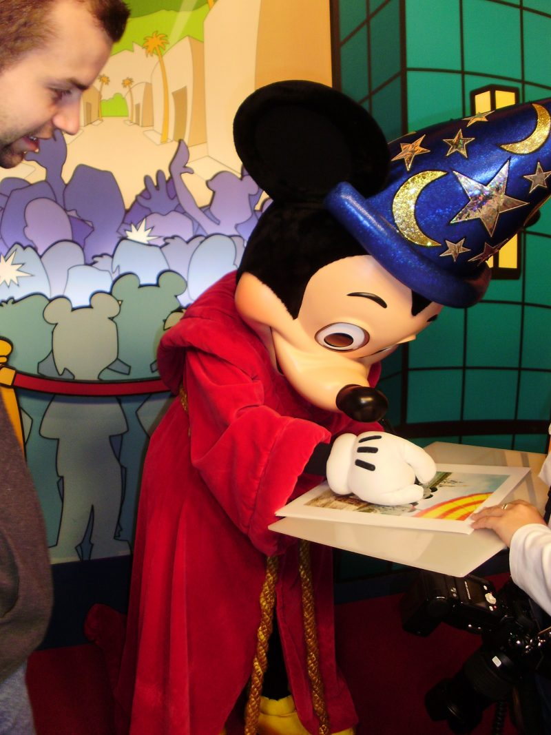 Mickey Mouse Signing an Autograph