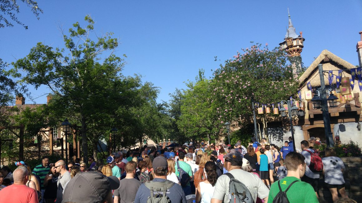 Extra Magic Hours Line for Liberty Square at 9am