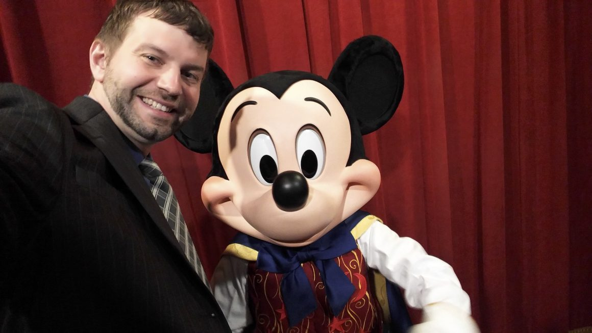 Dustin and Mickey Mouse