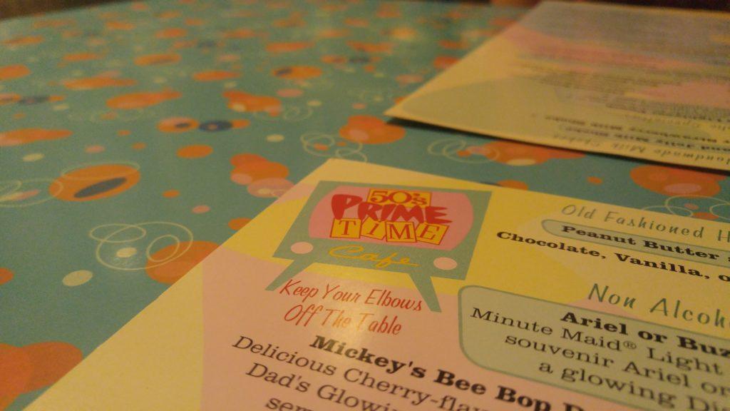 50's Prime Time Cafe Menu