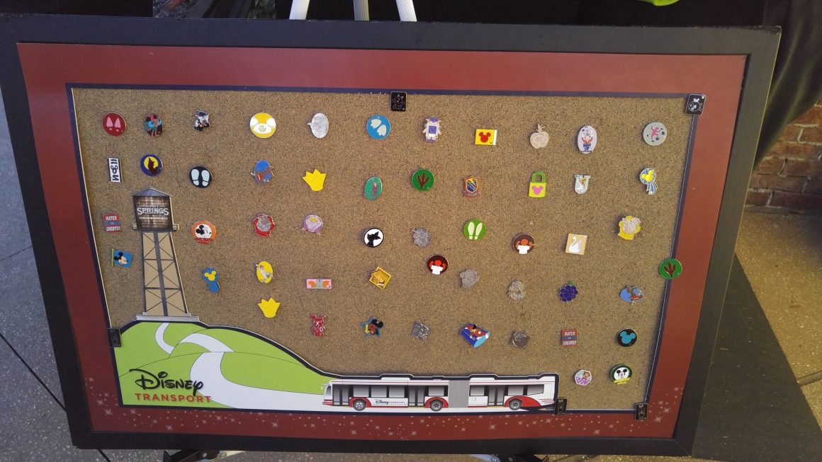 Pin Trading Board at Disney Springs Bus Transportation Hub