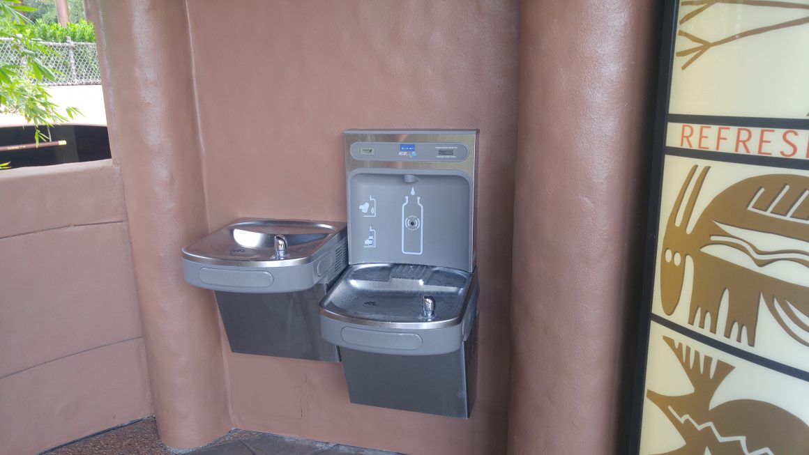 Water Fountain at Animal Kingdom Lodge Bus Stop