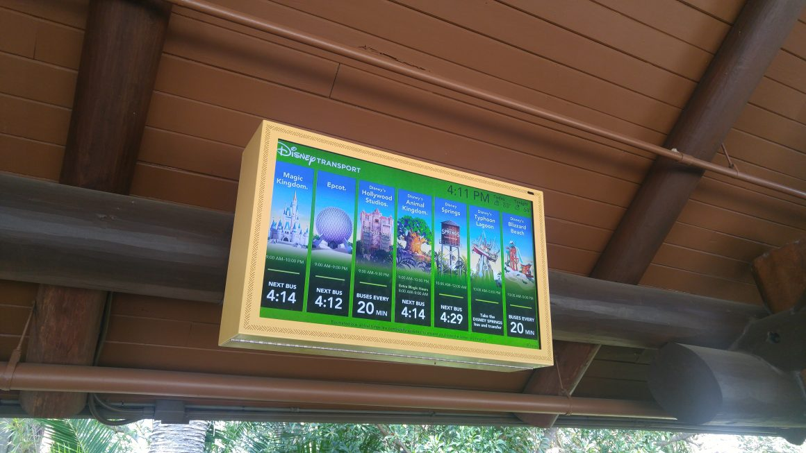 Animal Kingdom Lodge Bus Information