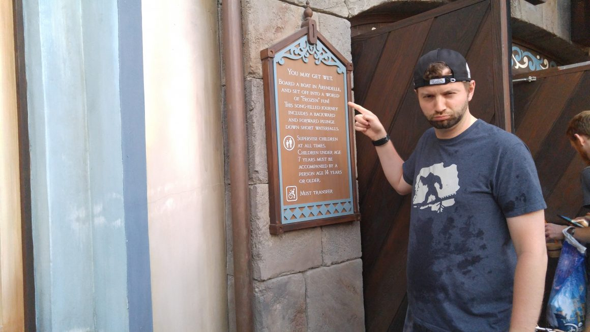 Frozen Ever After got Dustin Soaked