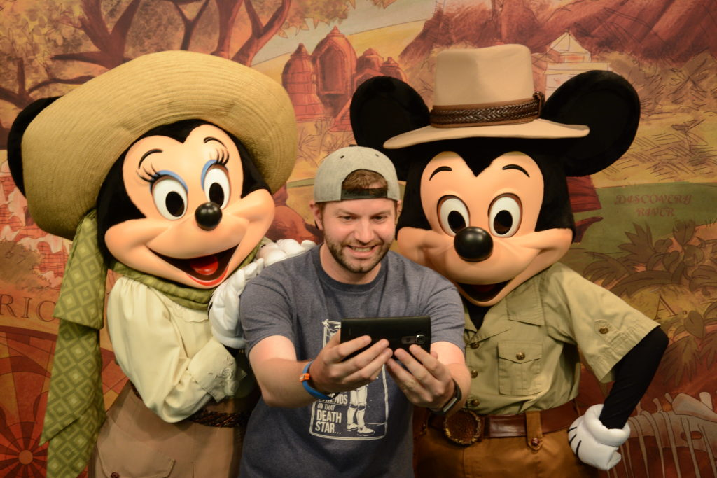 Mickey and Minnie with Dustin at Disney's Animal Kingdom