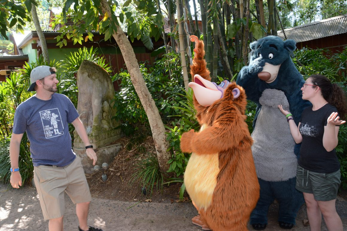 Baloo and King Louie with Dustin and Jill