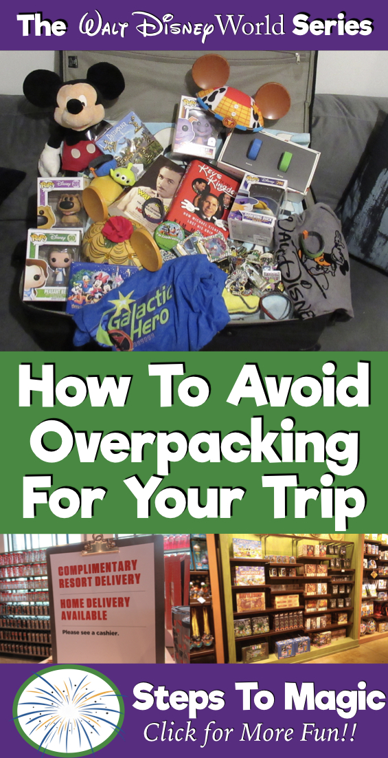 How To Avoid Overpacking For your Disney Vacation