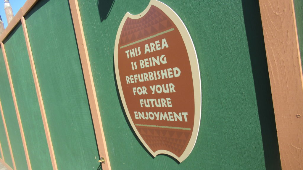 Refurbishment Sign