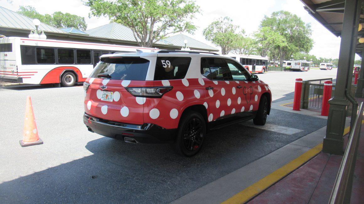 Minnie Van at Magic Kingdom Transportation