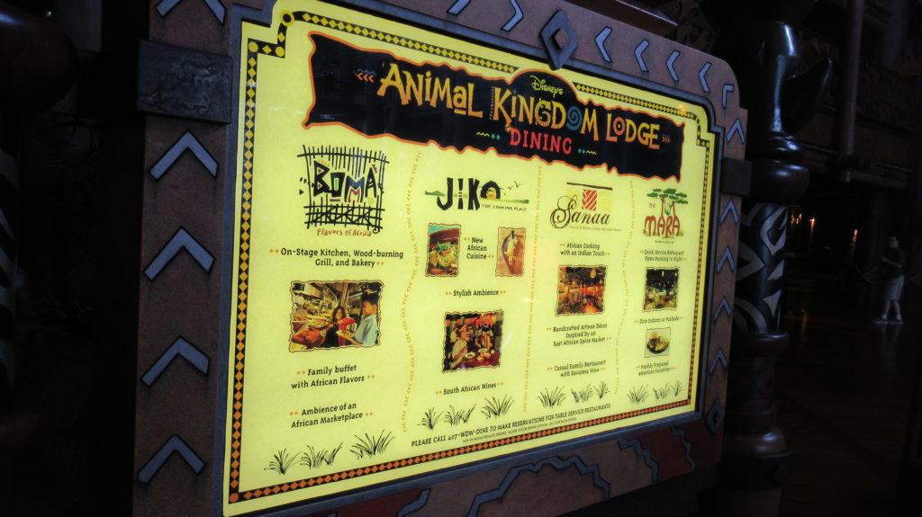 Animal Kingdom Lodge Dining