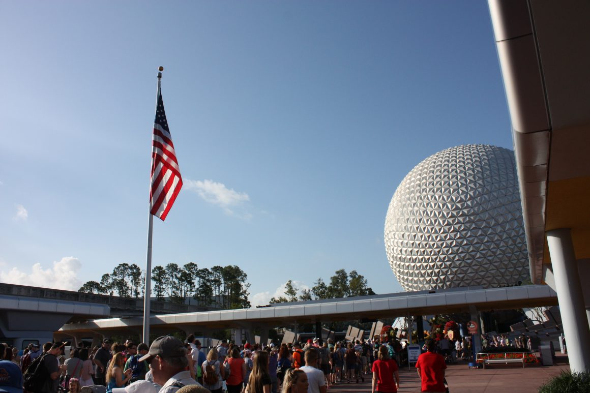 Rope Drop at EPCOT
