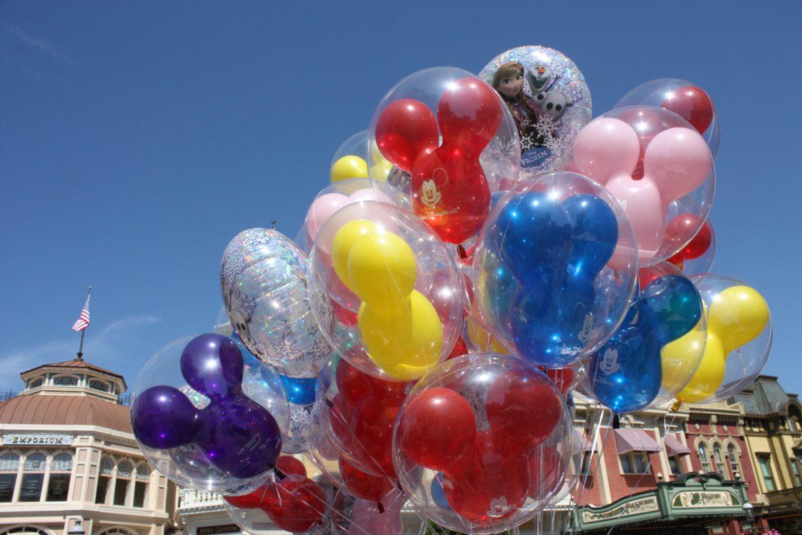 Balloons at the Magic Kingdom