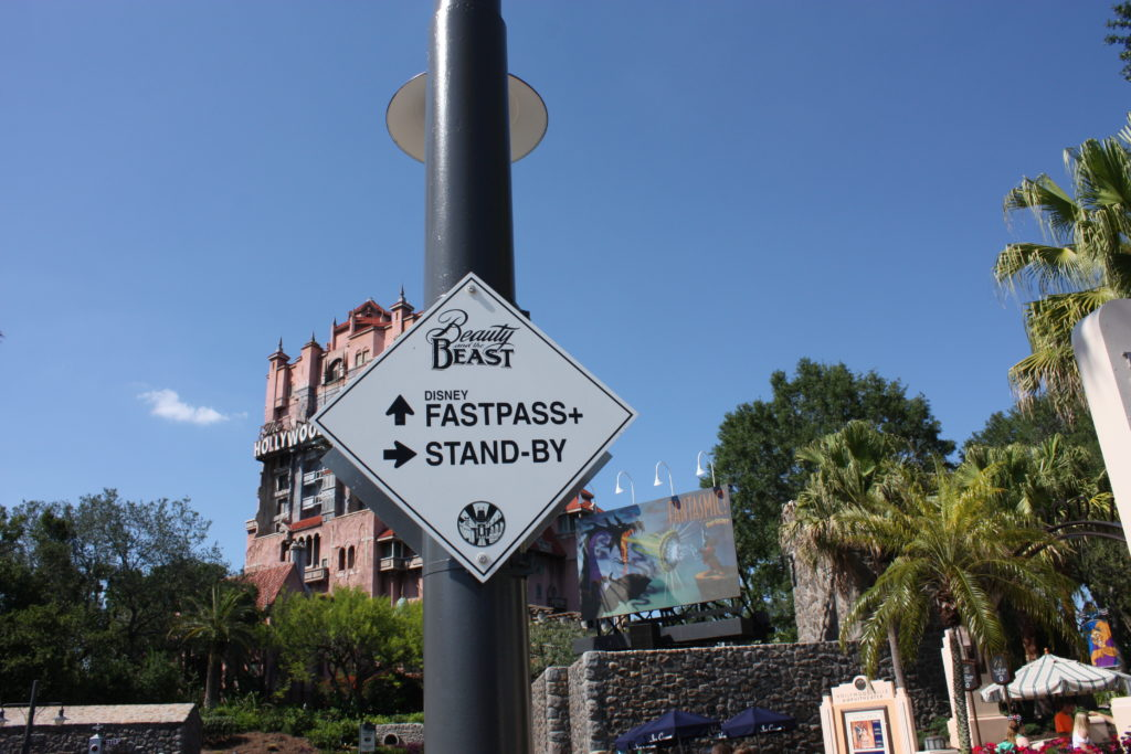 Beauty and the Beast Fastpass Sign