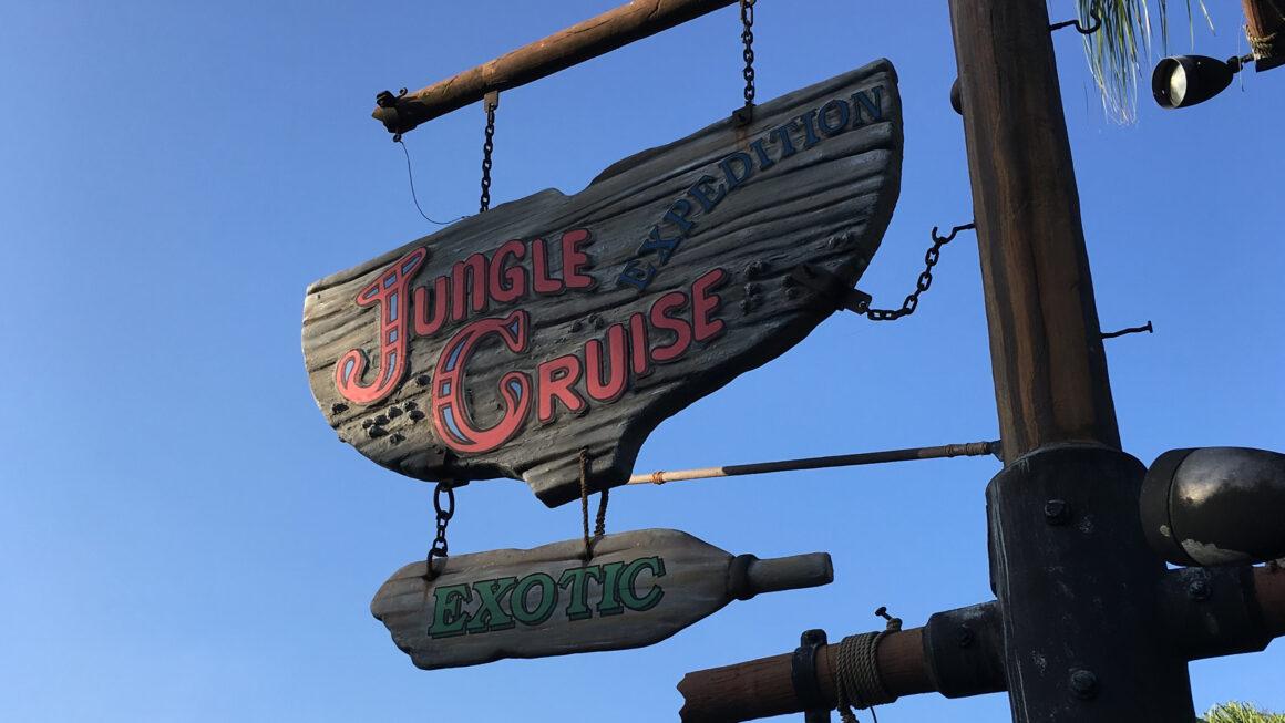 Jungle Cruise Sign at the Magic Kingdom