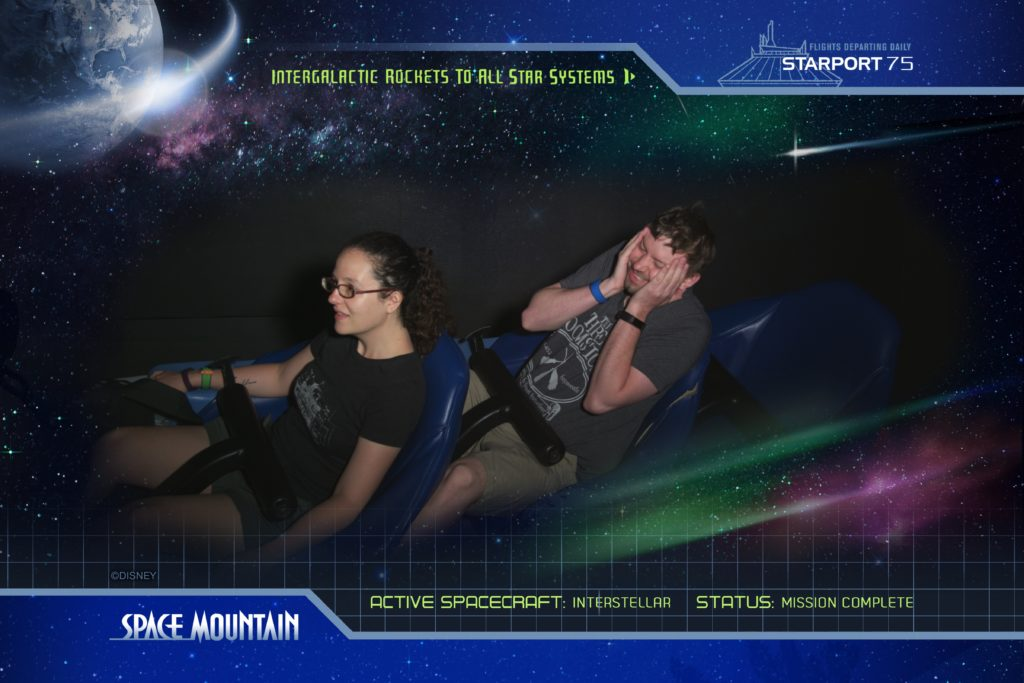 Space Mountain On Ride Photo