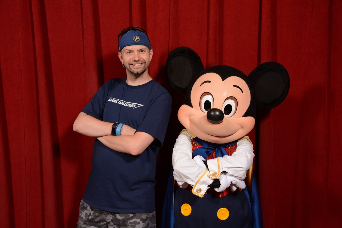 Town Square Theatre Mickey with Dustin