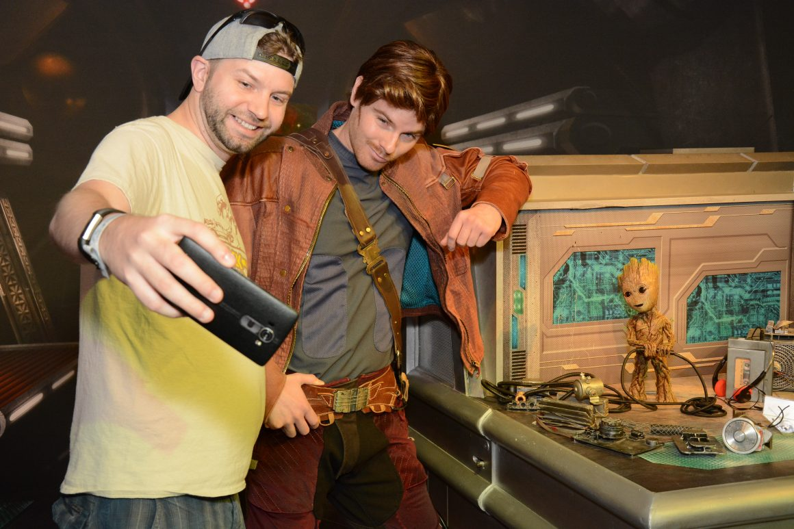 Starlord and Baby Groot with Dustin