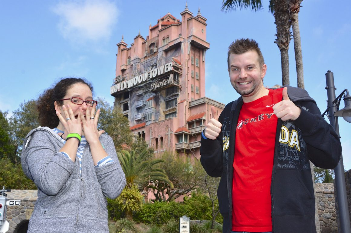 Hollywood Studios Tower of Terror Dustin and Jill Photopass